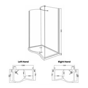 Premier Pacific Walk In Shower Enclosure Dimensions