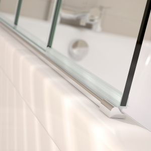 Prestige Frameless 4 Fold Right Hand Bath Screen Detail