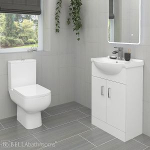 RAK 600 Toilet and Sink Vanity Unit Set 550mm