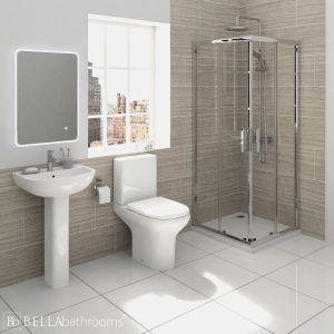 RAK Compact Shower Suite with Pacific Corner Entry Shower Enclosure