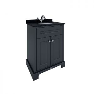 RAK Washington Black Vanity Unit with Black Countertop 600mm