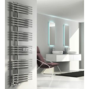 Reina Elisa Chrome Steel Designer Radiator 1550 x 500mm Situation