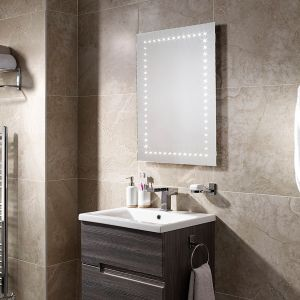Sensio Bronte LED mirror with demister pad in a bathroom