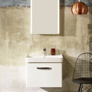 Tavistock Compass Grey Wall Mounted Vanity Unit 600mm Front