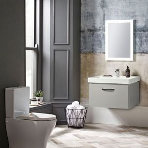 Tavistock Compass Gloss White Wall Mounted Vanity Unit 800mm Dimensions
