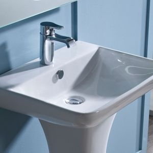 Tavistock Structure 1 Tap Hole Basin and Pedestal 550mm Detail