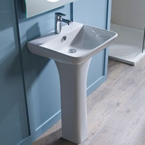 Tavistock Structure 1 Tap Hole Basin and Pedestal 550mm in Situation