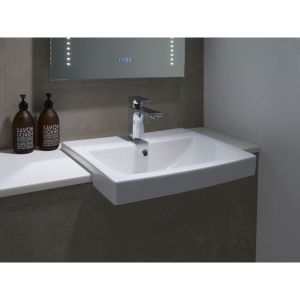Tavistock Vibe Semi Countertop Basin 550mm In Situ