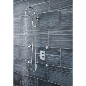 Ultra Breeze Deluxe Rigid Shower Riser Rail Kit Lifestyle