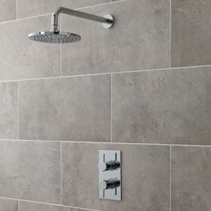 Ultra Quest Rectangular Twin Concealed Thermostatic Shower Valve