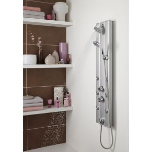 Ultra Thermostatic Shower Panel with 6 Body Jets Lifestyle
