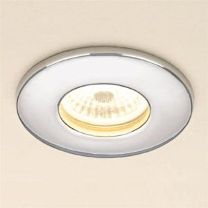 HiB Warm White LED Round Chrome Shower Light