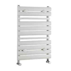 Premier Heated White Designer Towel Rail