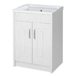 York Traditional White Ash Vanity Unit 600mm