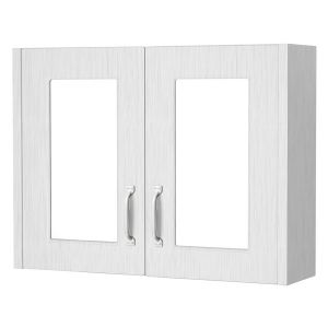 York Traditional White Ash Mirror Cabinet 800mm