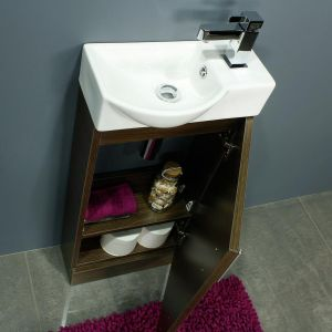 400 Series Walnut Mini Vanity Unit