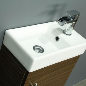 RAK Series 600 Back To Wall Toilet and 400 Series Walnut Vanity Unit Basin