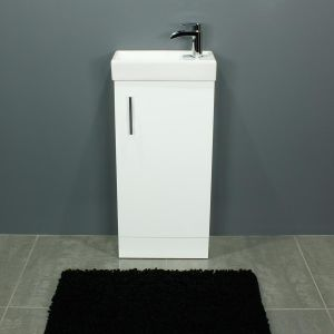 Cassellie 400 Series Gloss White Single Door Vanity Unit Front
