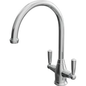 Cassellie Traditional Dual Lever Mono Kitchen Sink Mixer Tap