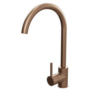 Cassellie Brushed Copper Single Lever Mono Kitchen Sink Mixer Tap