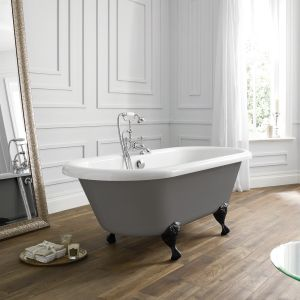 April Skipton Dove Grey Double Ended Freestanding Bath