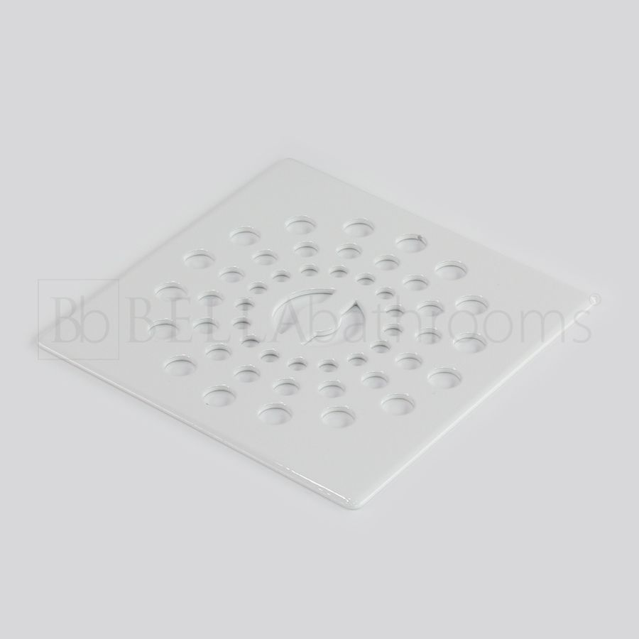 April Chrome Effect Stainless Steel Shower Waste with Grate 90mm