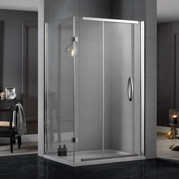 Aquadart Inline Sliding 2 Sided Shower Enclosure