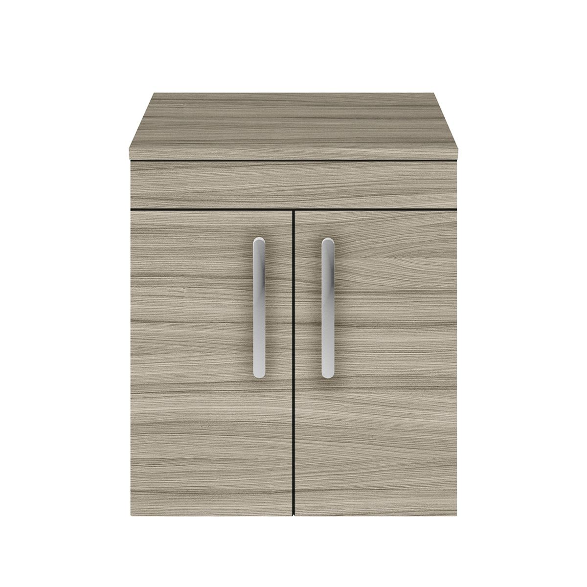 Nuie Athena Driftwood 2 Door Wall Hung Unit 500mm with Worktop