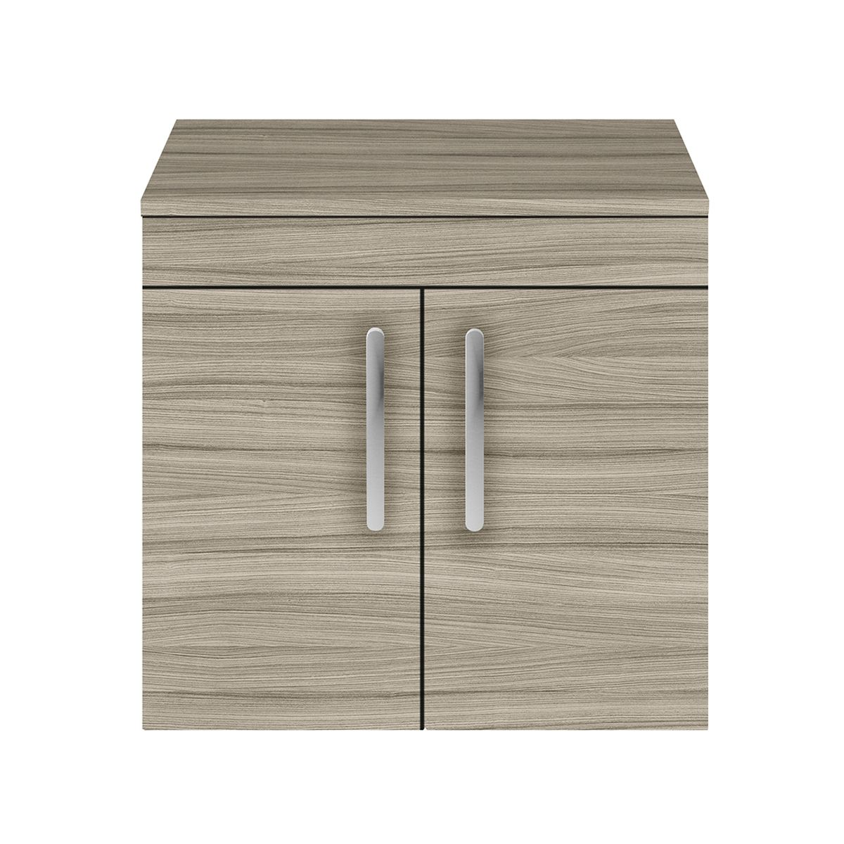 Nuie Athena Driftwood 2 Door Wall Hung Unit 600mm with Worktop