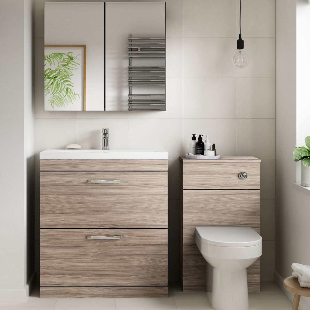 Premier Athena Driftwood Cloakroom Furniture Pack