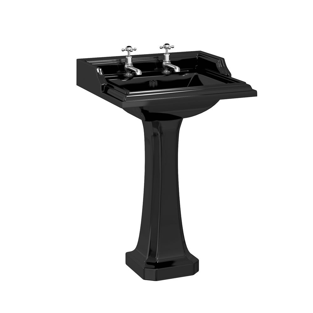 Burlington Jet Classic Rectangular Basin with Full Pedestal 650mm