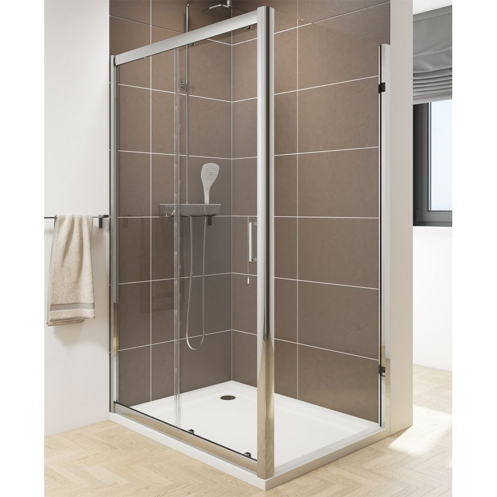 Cassellie Seis Sliding Shower Door with Optional Side Panel