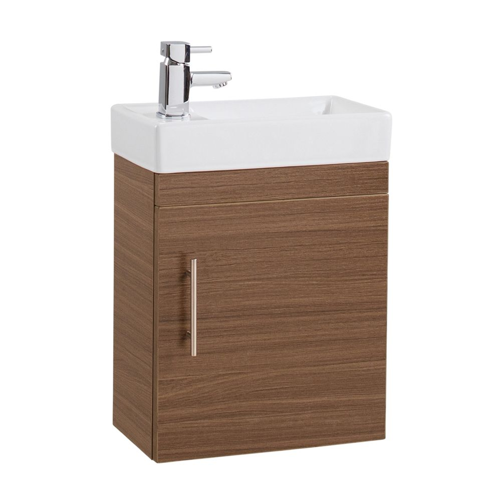 Cassellie Walnut Cube Vanity Unit