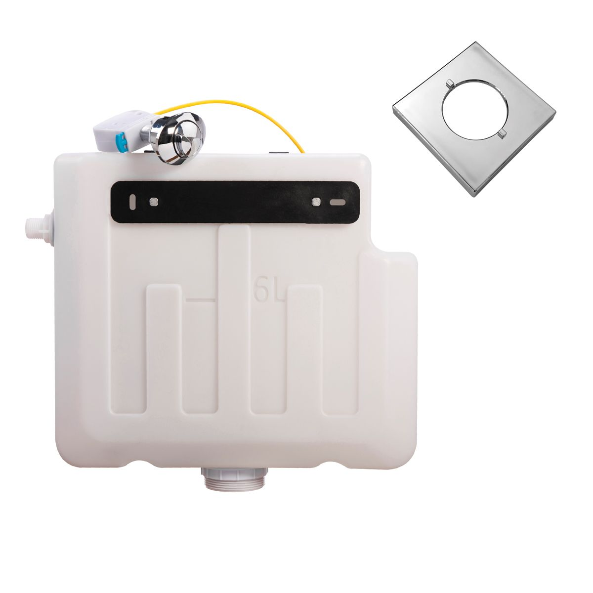 Cassellie Dual Flush Concealed Cistern and Square Push Button