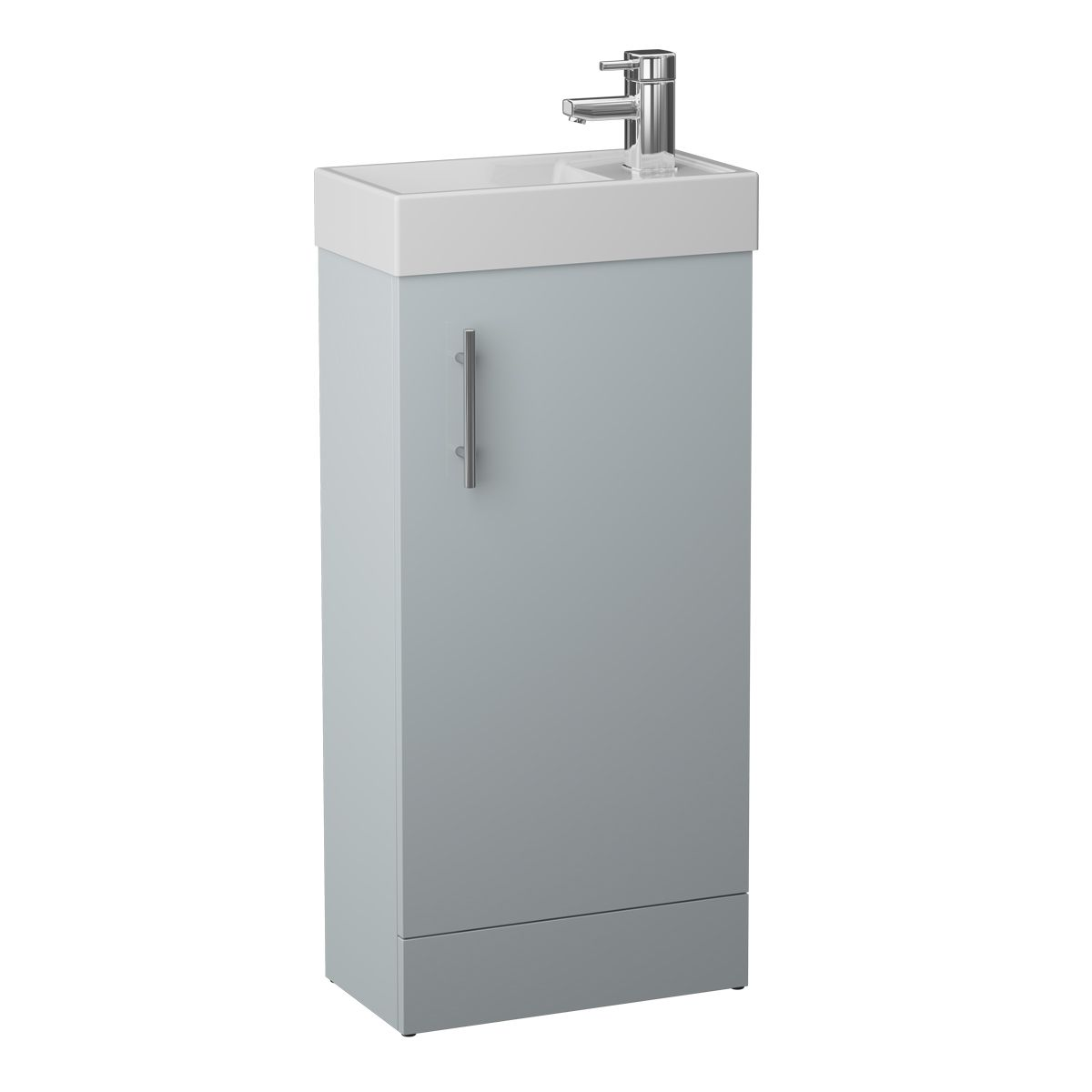 Cassellie 400 Series French Grey Single Door Vanity Unit
