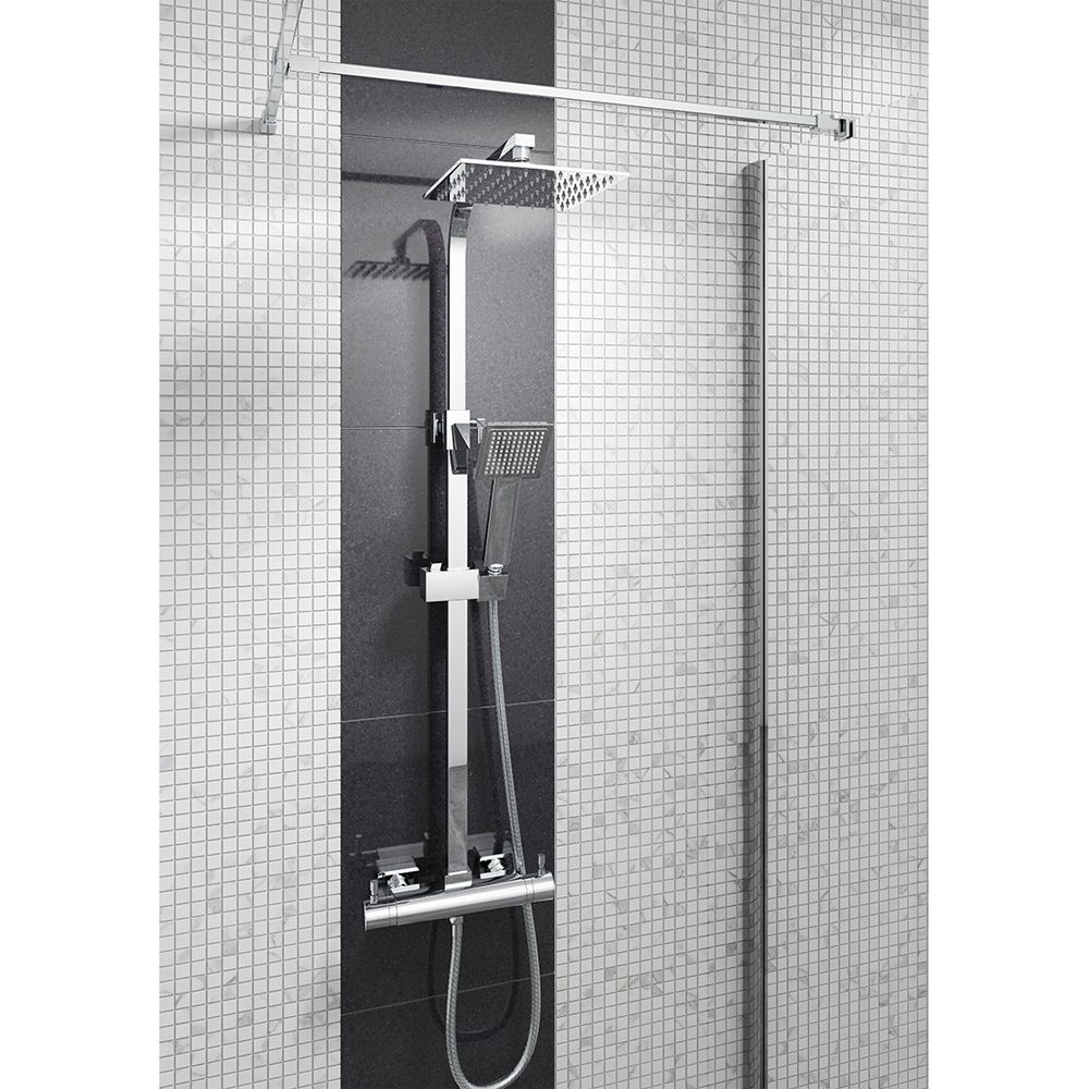 Cassellie Quadrato Thermostatic Mixer Shower Kit
