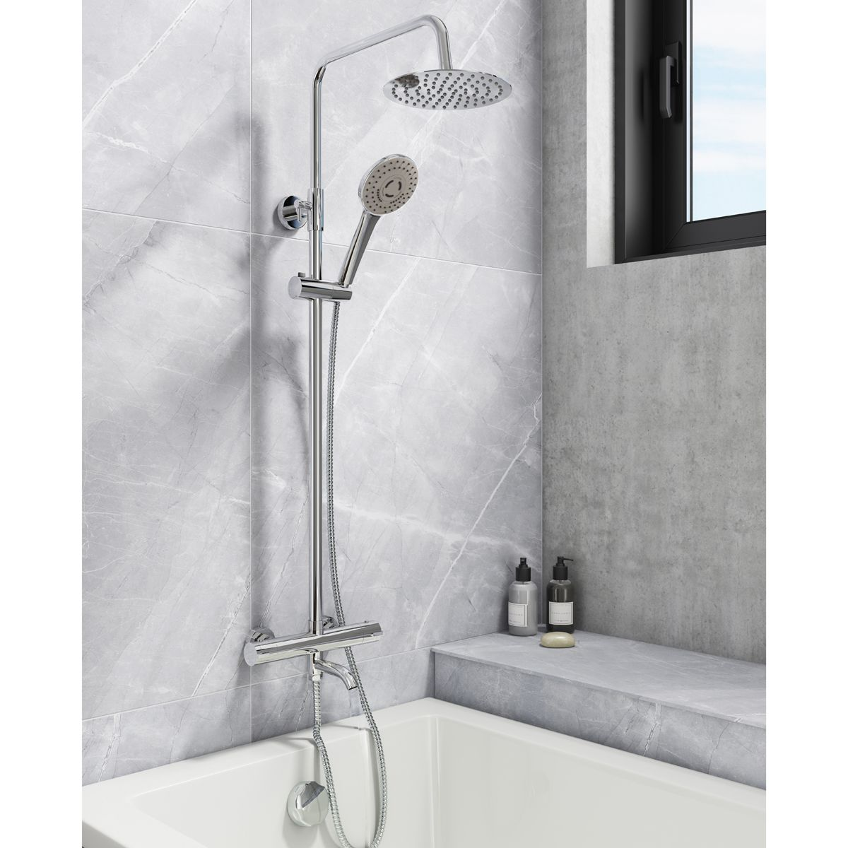 Cassellie Santana Thermostatic Bath Filler Shower Kit Lifestyle