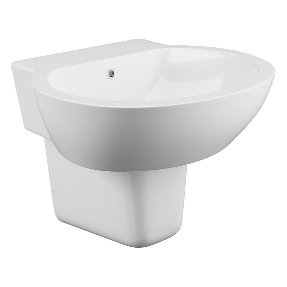 Cassellie Wharfe 1 Tap Hole Basin with Semi Pedestal