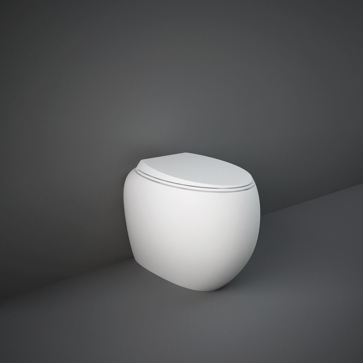 RAK Cloud Matt White Back To Wall Toilet with Soft Close Seat