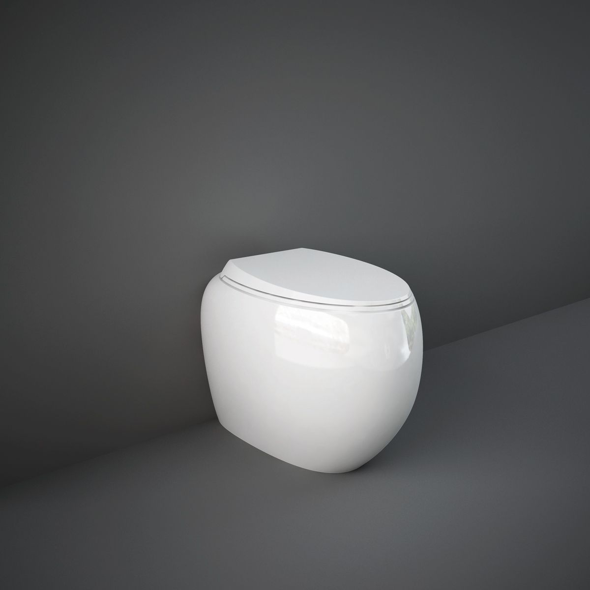 RAK Cloud Gloss Alpine White Back To Wall Toilet with Soft Close Seat