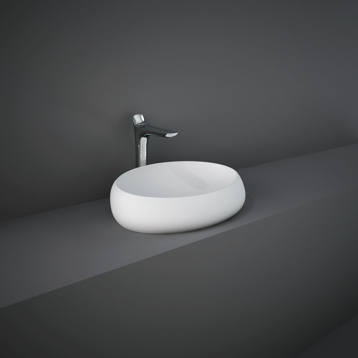 RAK Cloud Matt White Counter Top Basin