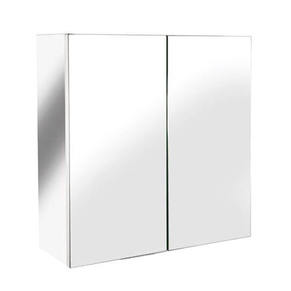 Croydex Avon Double Stainless Steel Bathroom Cabinet