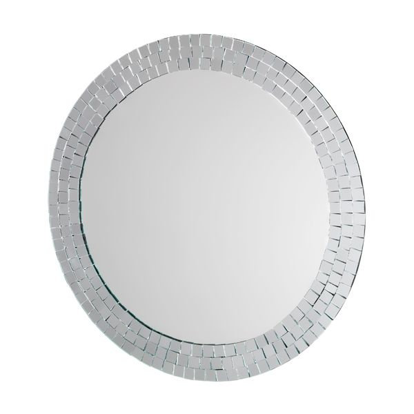 Croydex Meadley Circular Mirror with Mosaic Surround