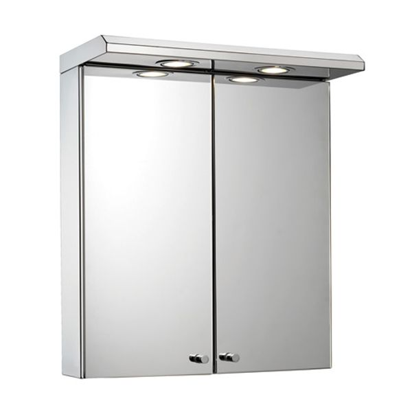 Croydex Shire Stainless Steel Double Door Illuminated Cabinet