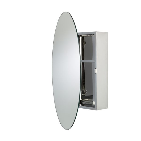 Croydex Tay Stainless Steel Oval Cabinet