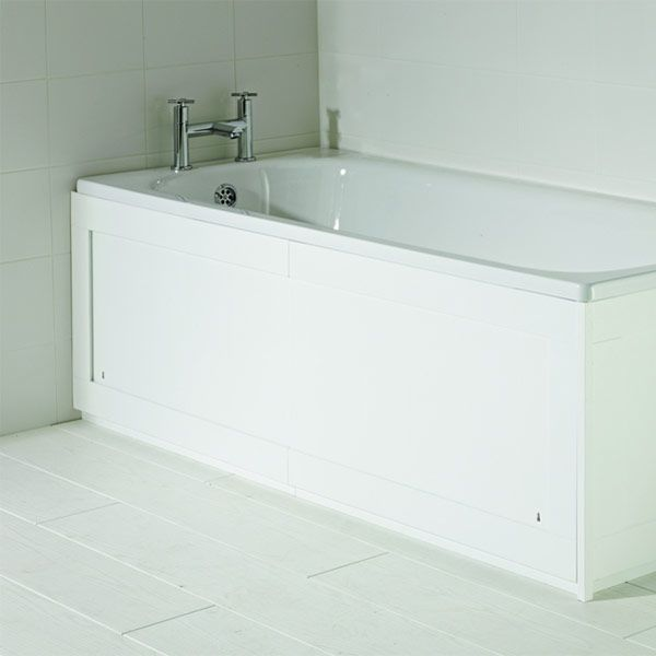 Croydex Unfold 'n' Fit Storage Gloss White Bath Panel 1700mm