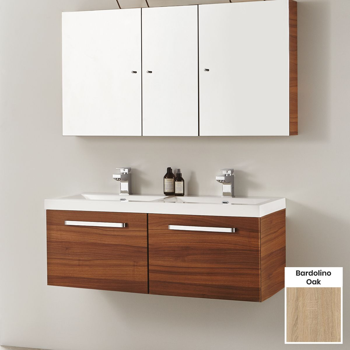 Elation Eko Bardolino Oak Vanity Unit with Groove Drawer 1100mm