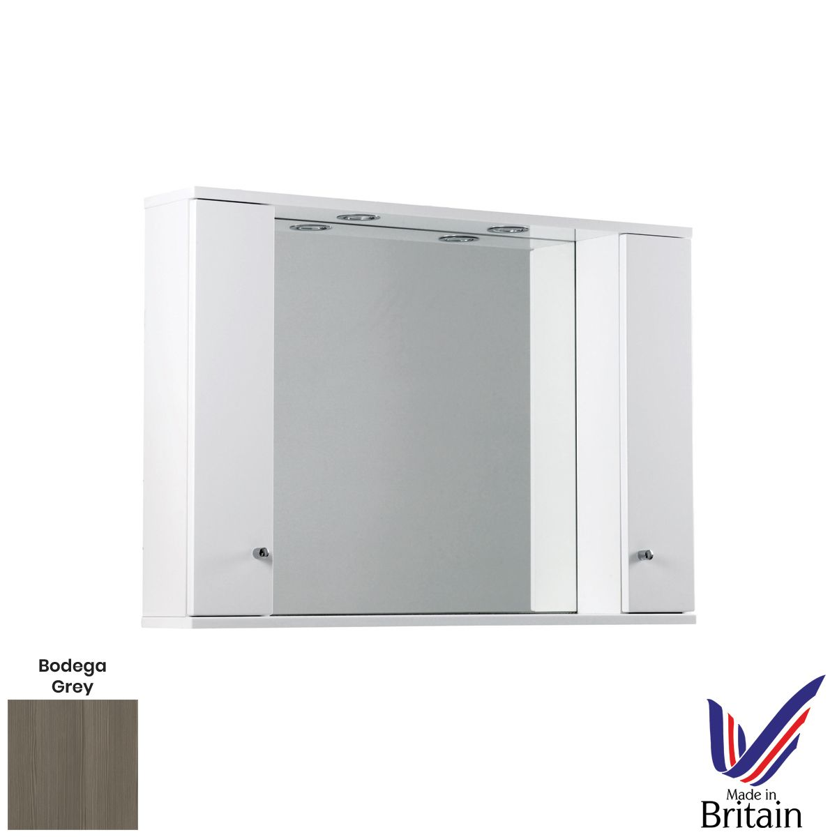 Elation Ikoma Bodega Grey Mirror Unit 1050mm