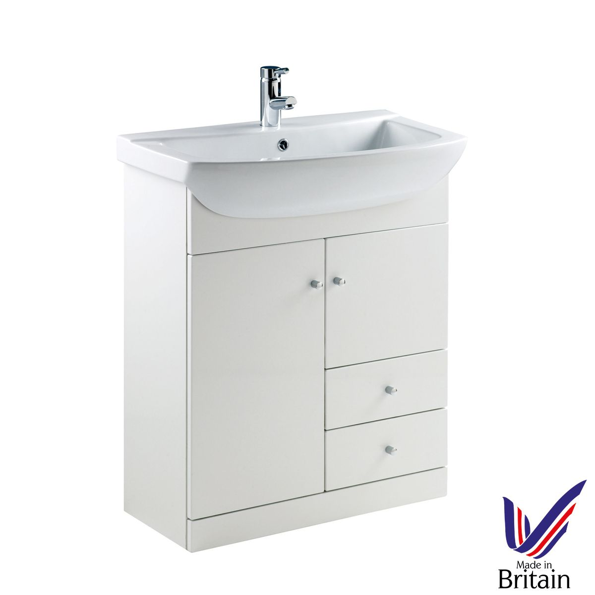 Ikoma White Gloss Vanity Unit with Basin 750mm