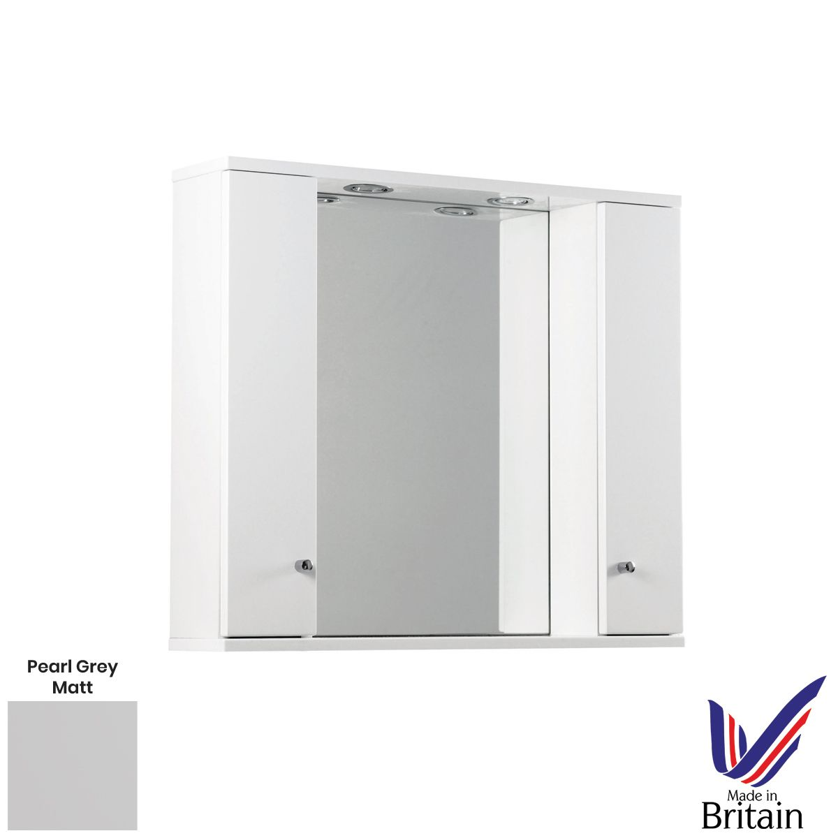 Elation Ikoma Pearl Grey Matt Mirror Unit 850mm